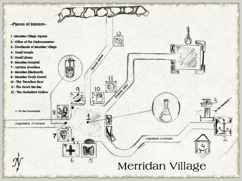 Map of Merridan Village